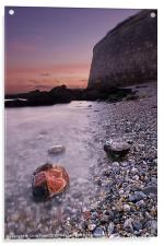 Wet Rocks at the Nothe, Acrylic Print