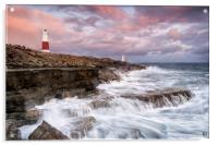 Stormy Sunset at Portland Bill, Acrylic Print