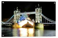 Tower Bridge Fireworks, Acrylic Print