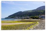 Dundrum Bay and Newcastle Town from the beach, Acrylic Print