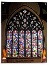 West Stained Glass Window Christ Church Cathedral , Acrylic Print