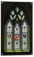 South Stained Glass Window Christ Church Cathedral, Acrylic Print