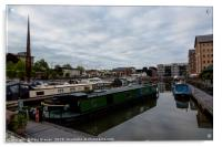 Narrowboats in Gloucester Docks , Acrylic Print