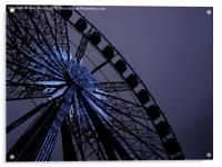 Blue Star Wheel, Acrylic Print