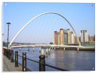 Newcastle Quayside in the Sun!, Acrylic Print