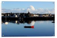 Red boat at Harbouring rest, Acrylic Print