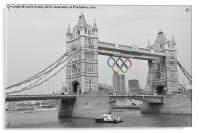 Tower Bridge Olympic Rings, Acrylic Print