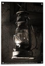 The old Oil lamp, Acrylic Print