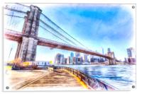 Brooklyn Bridge New York Art, Acrylic Print