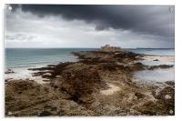 Fort National, St. Malo, France, Acrylic Print