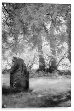 Sunny Day In the Churchyard - Infrared, Acrylic Print