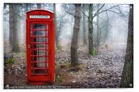 British phone box , Acrylic Print