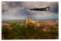 Lancaster Over The Minster, Acrylic Print