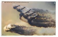 Red Arrows Storm, Acrylic Print