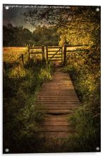 Gate into The Meadow, Acrylic Print