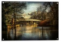 Whitchurch on Thames Toll Bridge, Acrylic Print