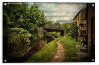 Canalside Cottages at Talybont, Acrylic Print