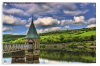 Pontsticill Reservoir Tower, Acrylic Print