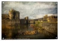 Inner Moat At Caerphilly Castle, Acrylic Print