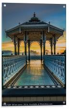 The Victorian Bandstand at Brighton, Acrylic Print