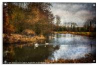 Winter Scene On The Kennet And Avon, Acrylic Print