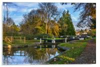 The Town Lock at Hungerford, Acrylic Print