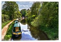 Boats On The Oxford Canal, Acrylic Print