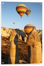 Ballooning Over The Valley Of Love, Acrylic Print