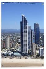 High Rise at Surfers Paradise, Acrylic Print