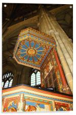 The Pulpit, Canterbury Cathedral, Acrylic Print