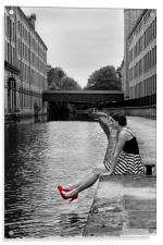 Girl with the Red Shoes, Acrylic Print