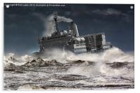 "RFA. Fort Austin "" Facing the storm"", Acrylic Print"