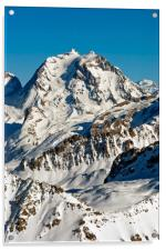 French Alps Mont Vallon Meribel Mottaret France, Acrylic Print