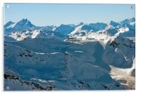 Meribel Mottaret Mont Vallon French Alps, Acrylic Print