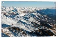 Meribel Mottaret 3 Valleys French Alps France, Acrylic Print