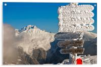 Mont Blanc Courchevel French Alps France, Acrylic Print