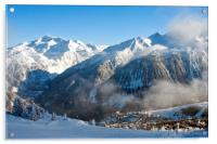 Courchevel 1850 3 Valleys ski area French Alps, Acrylic Print