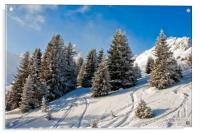 Courchevel 1850 3 Valleys French Alps France, Acrylic Print