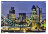 The City Of London, Acrylic Print