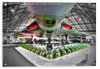 Vulcan and Bombs - R.A.F. Museum Hendon 1, Acrylic Print