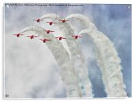 Looping In The Skies - The Red Arrows , Acrylic Print
