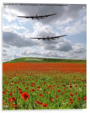 The Two Lancasters - We Remember Them !, Acrylic Print