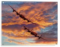 Out Of The Sunset - The 2 Lancasters 1, Acrylic Print