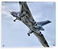 Vulcan XH558 takes off at Farnborough 2014, Acrylic Print
