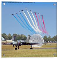 The Red Arrows Salute The Vulcan, Acrylic Print