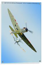 The Guy Martin Spitfire Tailchase Duxford, Acrylic Print