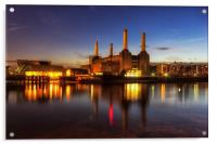 Battersea Twilight, Acrylic Print