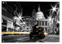 St pauls with Black Cab, Acrylic Print
