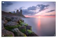 Reculver Towers Sunset, Acrylic Print