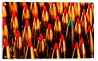 Abstract Pattern of Standing Rifle Bullets, Acrylic Print